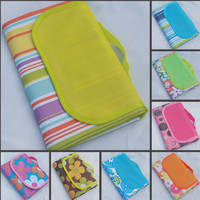 JUFIT Outdoor Collapsible Camping Mat Picnic Blanket Waterproof Beach Baby Plaid Blanket