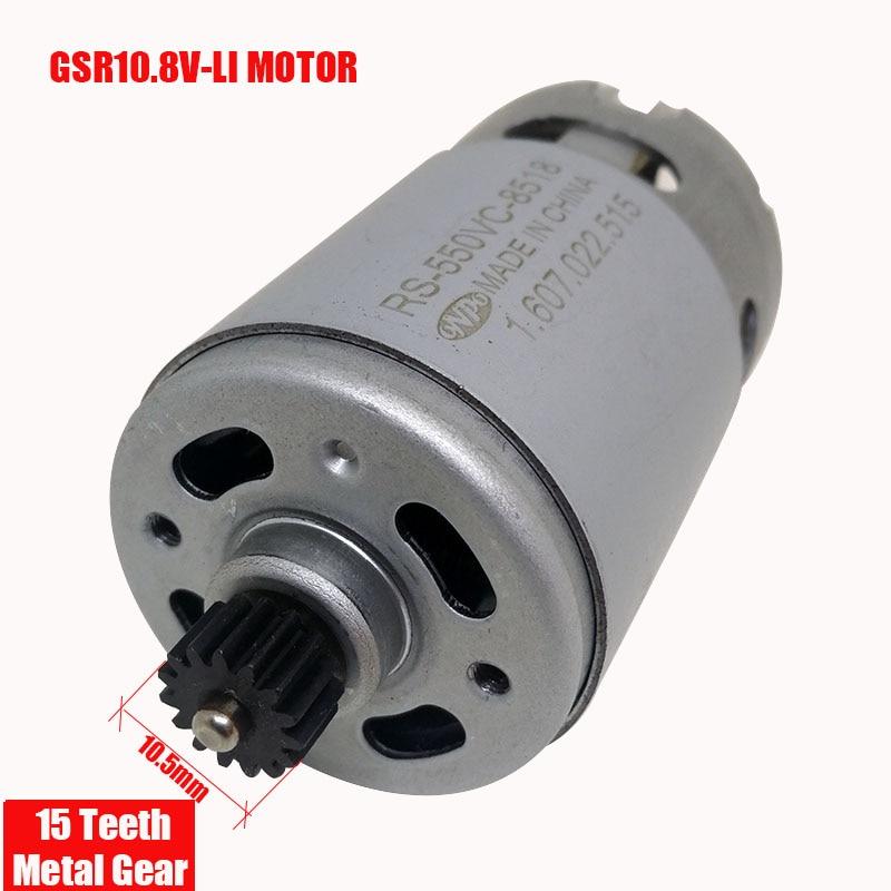 GSR10.8V-LI 10.8V 15 teeth ONPO DC Motor RS-550VC-8518 for BOSCH  3601J92000 electric drill Screwdriver maintenance spare parts