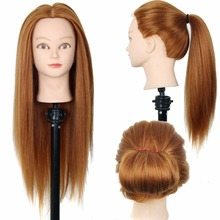 22inch Hairdressing Practice Training Head Yaki Synthetic Hair Doll Cosmetology Mannequin Heads Women Hairdresser Manikin Sale
