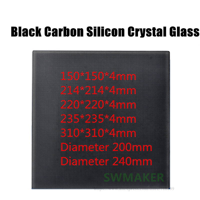 Ultrabase <font><b>Heated</b></font> <font><b>Bed</b></font> Self-adhesive Build Surface Glass plate 150 214 <font><b>220</b></font> 235 310mm for Wanhao Anet creality 3D Printer image