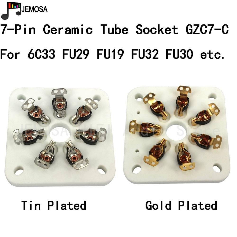 5PCS Ceramic Tube Socket 7Pins Tablet Socket Tube Seat For 6C33 FU19 FU29 FU30 FU32 829B 3C33 Vacuum Tube Amplifer Free Shipping