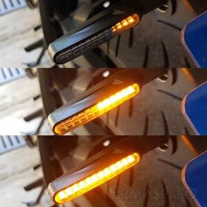 Image 4 - Universal LED Motorcycle Turn Signals Lightings Waterproof IP68 Tail Flasher Flowing Water Blinker Motorcycle Flashing Lights