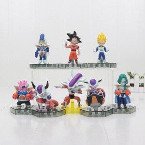 8 шт./компл. Dragon Ball Z Frieza Freeza морозильная камера 3 формы Zarbon Dodoria Soldier Son Goku Vegeta 8 см фигурка игрушки