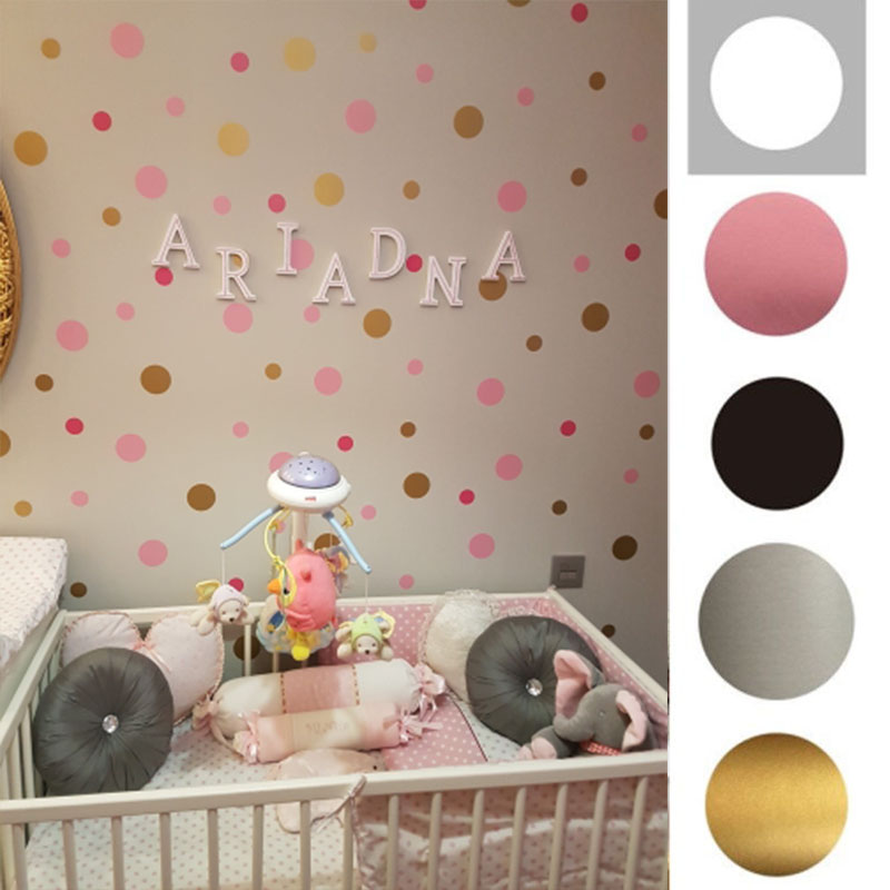 3/4/5cm Polka Dot Wall Sticker Self-adhesive Removable DIY Wall Stickers For Kids Bedroom Decoration Kindergarten Wall Art Decal