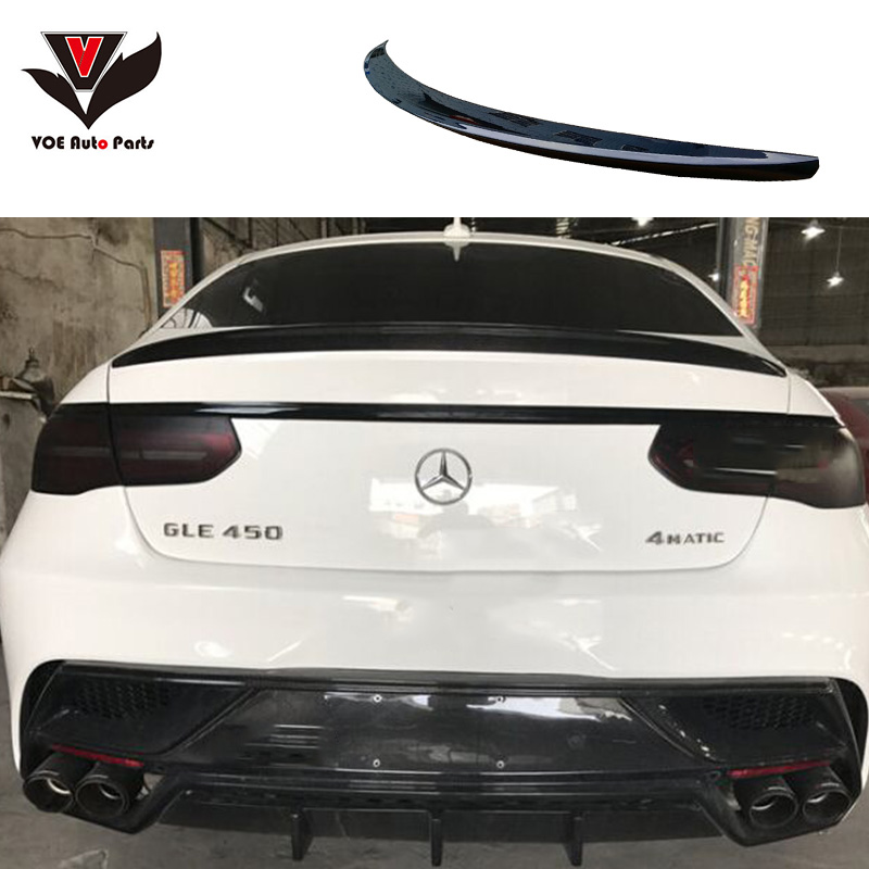 2016 Mercedes Benz Gle Coupe Exterior: GLE Coupe ABS Plastic Gloss Black Painted Rear Wing