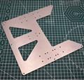 1 piezas de aluminio BLV MGN12 MOD Prusa MK52 Heatbed Ycarriage para Prusa I3 Anet A8 A6 3D impresora mejora
