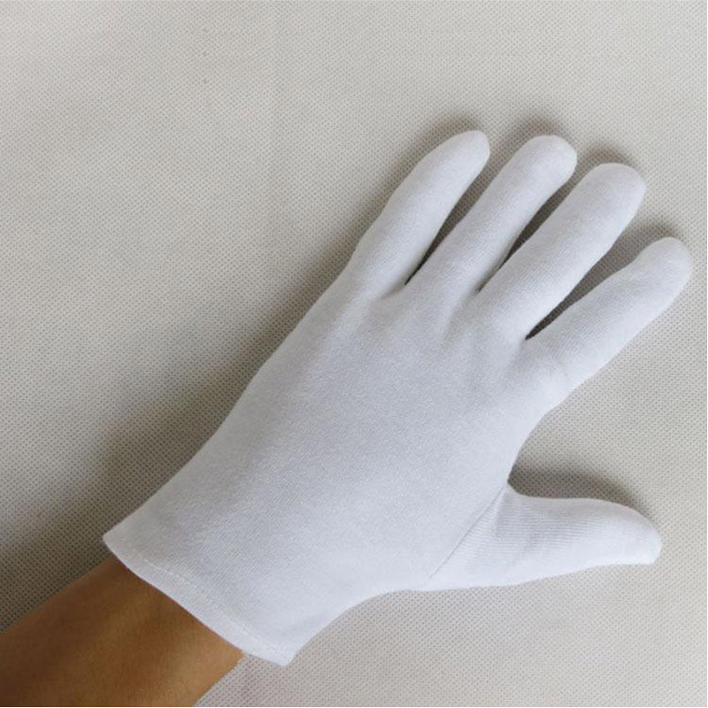 White 100% Cotton Gloves Serving / Waiters Gloves Concierge Butler Snooker Equestrian Gloves