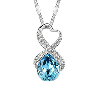 Jewelry Wholesale Classical Teardrop Crystal Pendant Made With Swarovski Elements Elegant Necklace For Woman Short Necklaces