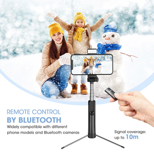 Image 4 - Mpow 3 in 1 Bluetooth Selfie Stick Tripod With Fill Light Wireless Remote Control Selfie Stick Bluetooth Control For Huawei P30