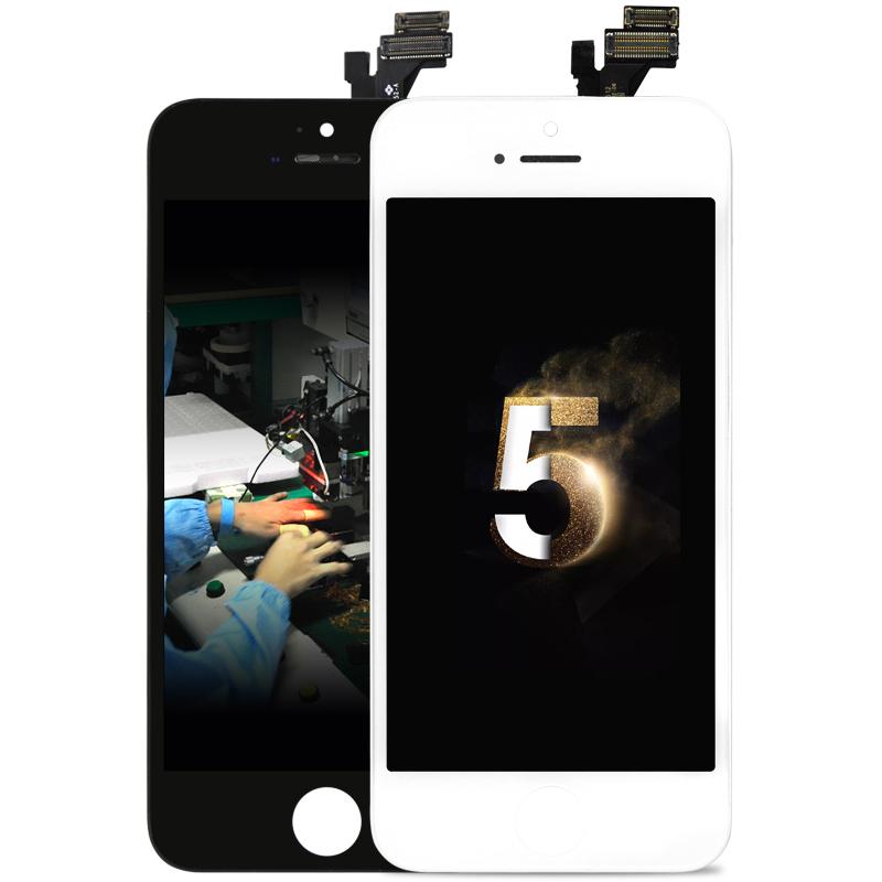 Prix pour 10 pcs 100% 4.7 pouce officielles lcd écran pour iphone 5 lcd pour iphone 5 affichage + caméra titulaire