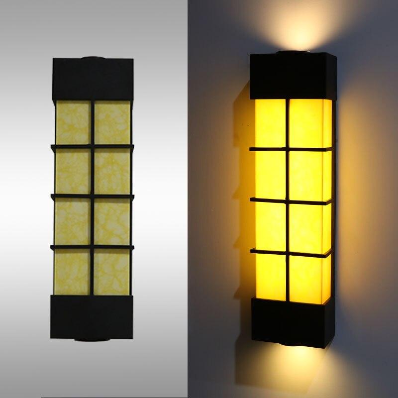Lampe de mur extérieure imperméable à l'eau antirouille imitation marbre applique extérieure paysage extérieur lumières LED ZH FG249
