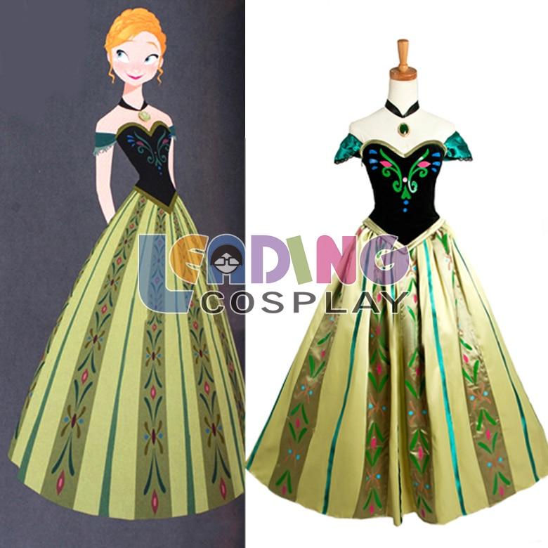 Custom Made Frozen Anna Dress Princess Anna Coronation Dress