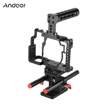 Andoer Aluminium Legierung Kamera Cage + Top Griff + Rod Grundplatte Kit Video, Der Stabilisator System für Sony A7/ a7R/A7S Kamera