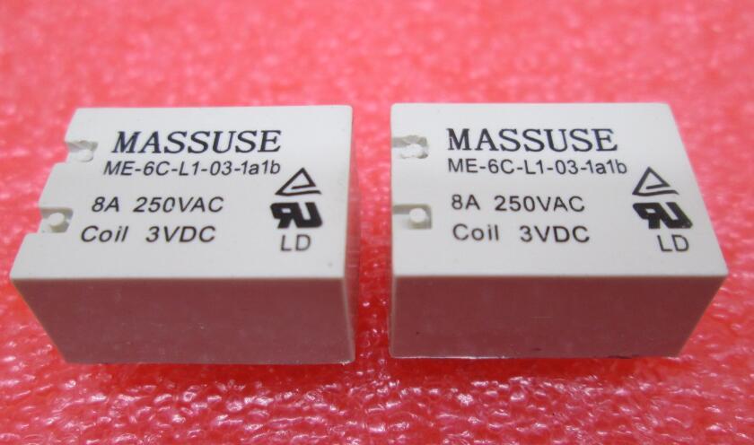 HOT NEW relay ME-6C-L1-03-1a1b ME6CL1031a1b ME-6C-L1-03 3VDC DC3V 3V DIP6 5PCS/LOT наклейки cn hot me