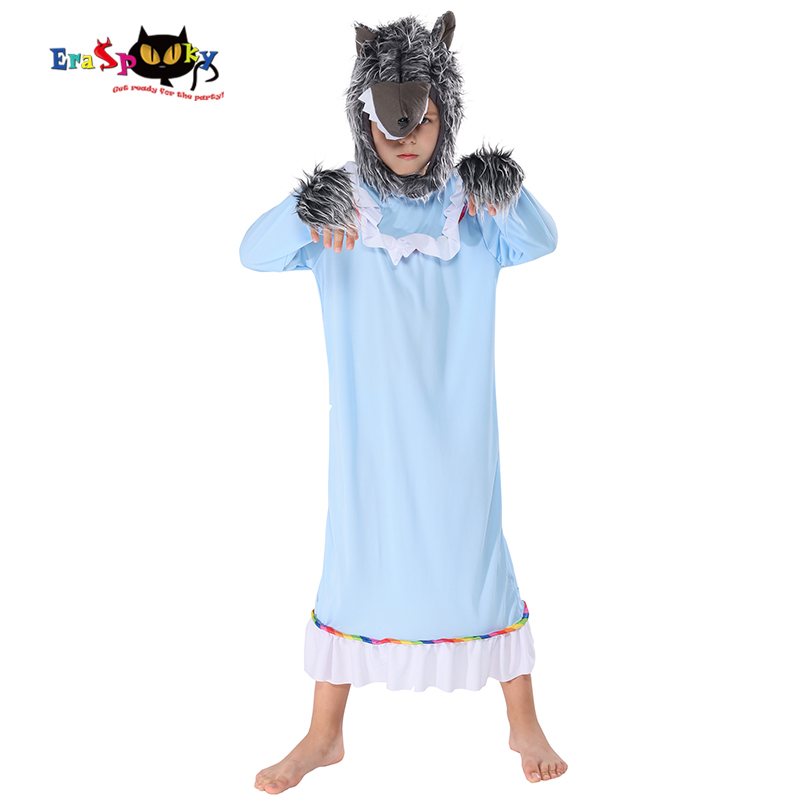 Eraspooky Wolf animal Cosplay Child Halloween costume for kids Werewolf carnival Purim Christmas fancy dress boys Head Mask