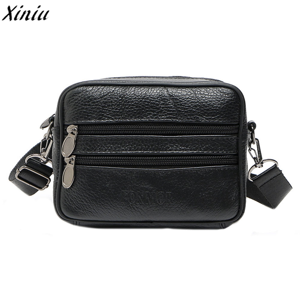 Brand Men Handbag Qulited Leather Multifunction Casual Crossbody Bag Vintage Business Messenger Bag Bolsas De Ombro *7719