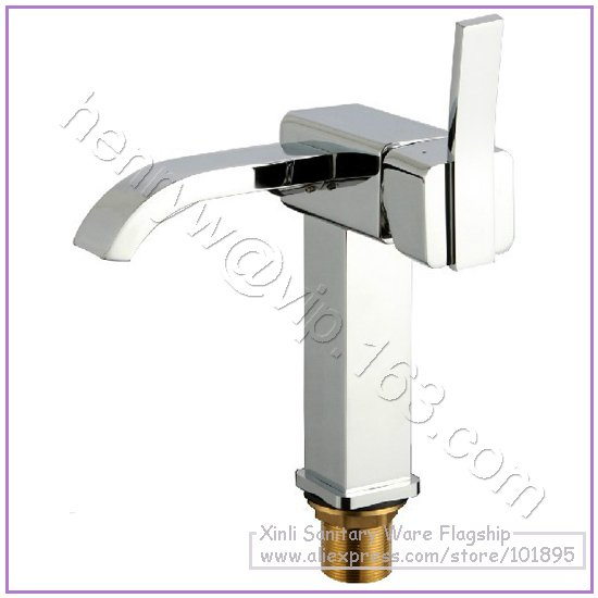 L16655 - Luxury Deck Mounted Chrome Color Brass Material Hot & Cold Water of Basin Mixer цены