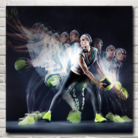 Bodybuilding Fitness Volleyball Exercise Sports Art Silk Poster Gym Image Decor Pictures 16x16 24X24 30x30 Inches Free Shipping