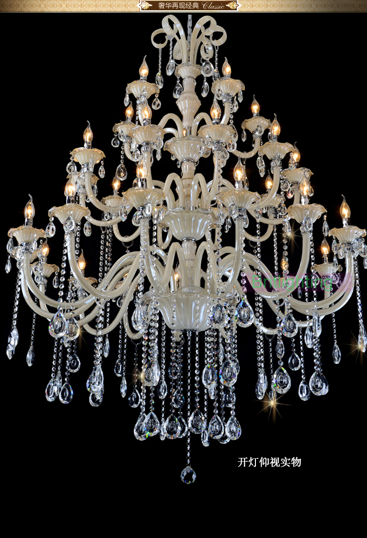 Large chandelier in the hotel crystal chandelier for dining room large chandelier in the hotel crystal chandelier for dining room home lighting indoor lamp white and gold chandelier crystal in chandeliers from lights arubaitofo Gallery