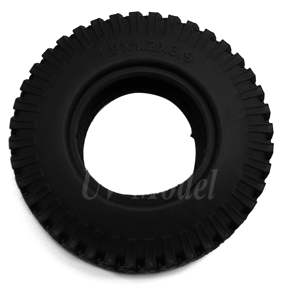 "4PCS/lot 98mm 1.9"" Rubber Rock Crawler Tires Wheel Tyres For 1:10 RC Rock Crawler Wheel AXIAL SCX10 Wraith CC01/F350"