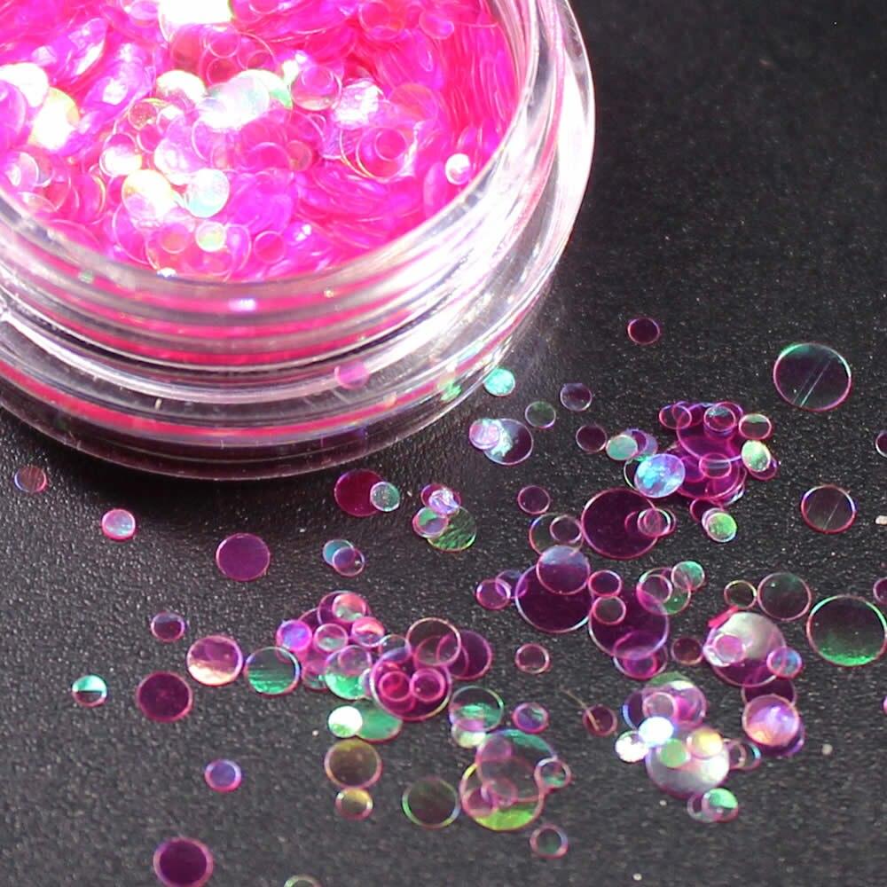 1 коробка блестящие круглые ультратонкие блестки Красочные Блестки для дизайна ногтей УФ гель 3D декоративный Маникюр DIY аксессуары NR234 - Цвет: Серебристый