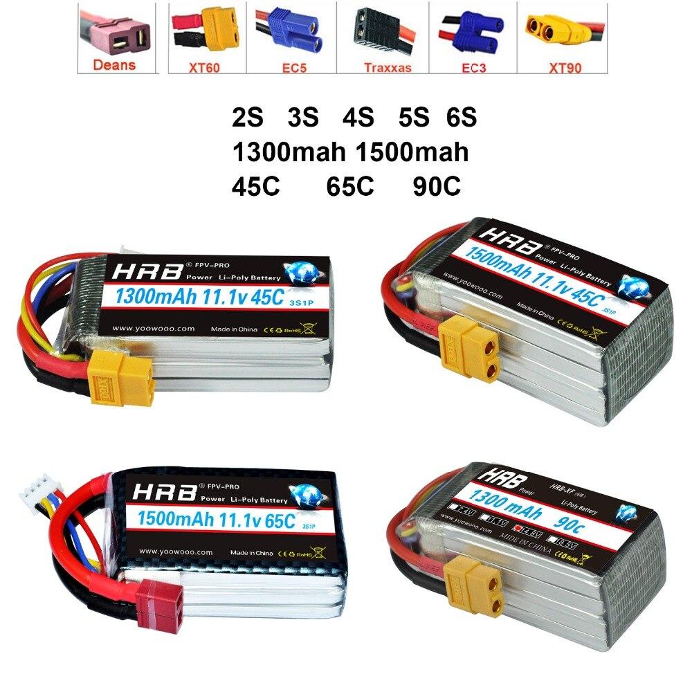 HRB Batteria Lipo 2 S 3 S 4 4S 5 5S 6 S 7.4 V 11.1 V 14.8 V 18.5 V 22.2 V 1300 mAh 1500 mah 45C 65C 90C Per Le Corse Drone FPV QuadcopterHRB Batteria Lipo 2 S 3 S 4 4S 5 5S 6 S 7.4 V 11.1 V 14.8 V 18.5 V 22.2 V 1300 mAh 1500 mah 45C 65C 90C Per Le Corse Drone FPV Quadcopter