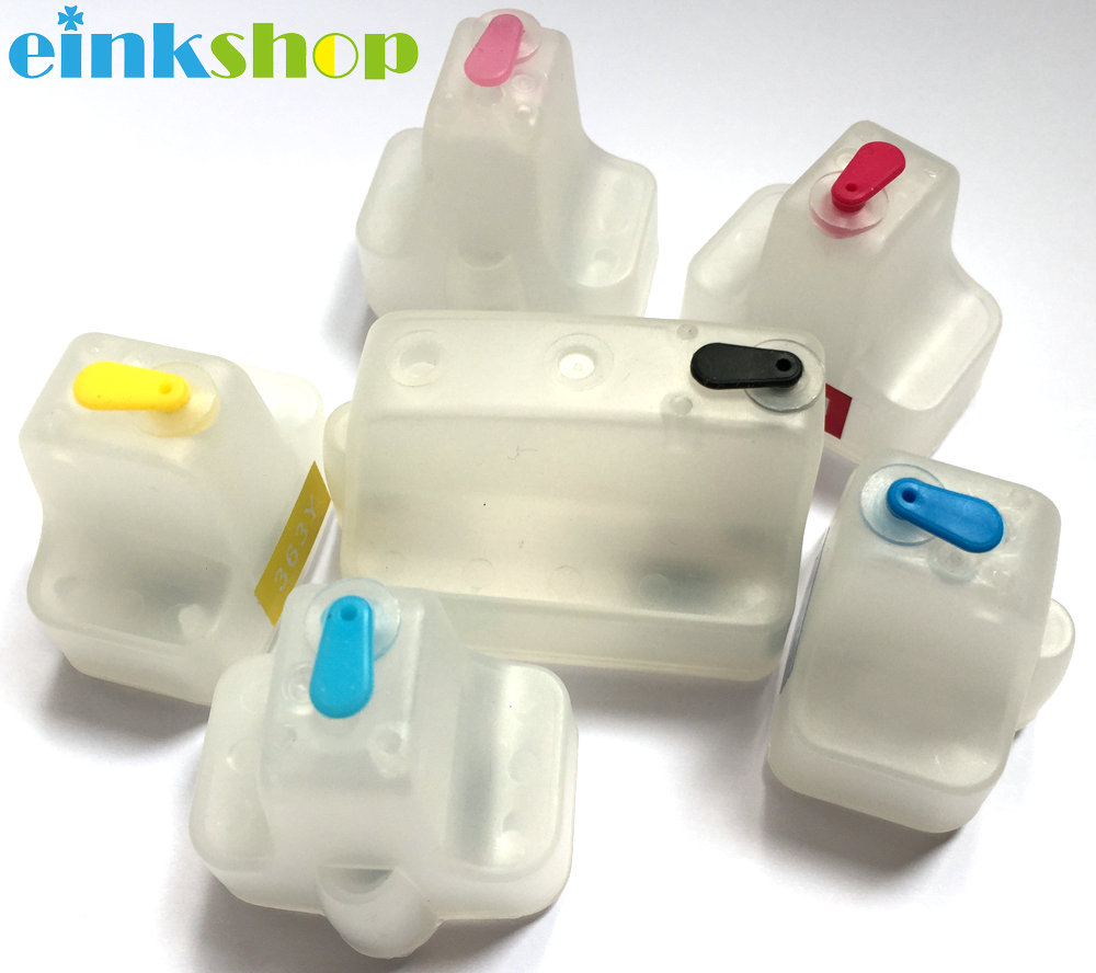 einkshop for hp177 Empty Refillable ink cartridges For HP Photosmart 3210 D7460 C5100 C5140 C5183 C6270 C6280 C6180 C6183 C7170 factory price for hp801 6pcs x 100ml dye ink for hp photosmart d7300 d7100 d6100 c7100 c6100 c5100 c8200 c3100 printer