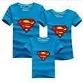 Горячей соответствующие семейные футболки отца и сына одежды супермены футболки семья взгляд соответствующие семья наряды мама дочь одежда