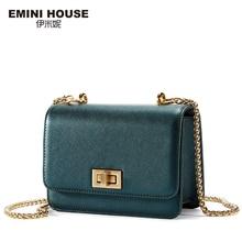 EMINI HOUSE Metal Color Chain Bag Fashion Sheepskin Crossbady Bags Women Shoulder Bag High Quality Women