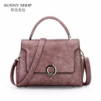 SUNNY SHOP Retro Women Bag Simple Elegent Solid Vintage Crossbody Bag Small Sling Bags Ladies Casual