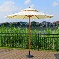 2 7 метровая стальная деревянная Двойная крыша зонтик патио мебель (без зонтичного основания  без стульев)
