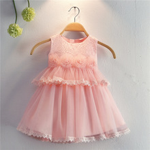 Free Shipping Cotton Lining 0-2 Year Infant Dresses 2019 New Arrival Peach Baby Dress For 1 Girl Birthday Christening Gowns