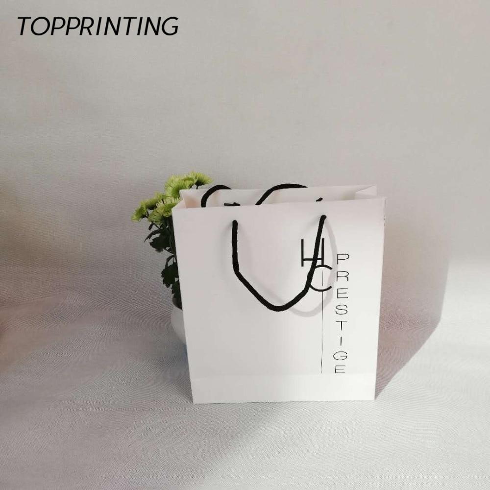 Geleerd Groothandel 500 Stks/partij Custom High-end Luxe Papier Shopping Gift Zakken Met Uw Eigen Logo Voor Elk Winkels En Handel Tonen