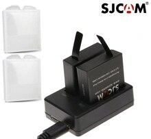 Akcesoria SJCAM oryginalny SJ7 gwiazda baterie akumulator podwójna ładowarka obudowa baterii dla SJCAM SJ7 kamera sportowa Action
