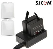 Sjcam acessórios originais sj7 estrela baterias rechargable bateria carregador duplo bateria caso para sjcam sj7 ação esportes câmera