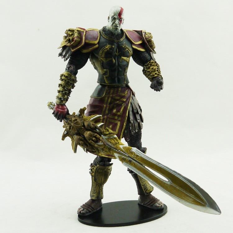 Free shipping Alta qualidade NECA God of War 2 II Kratos em Ares Armor W Blades 7  PVC Action Figure Toy boneca presente
