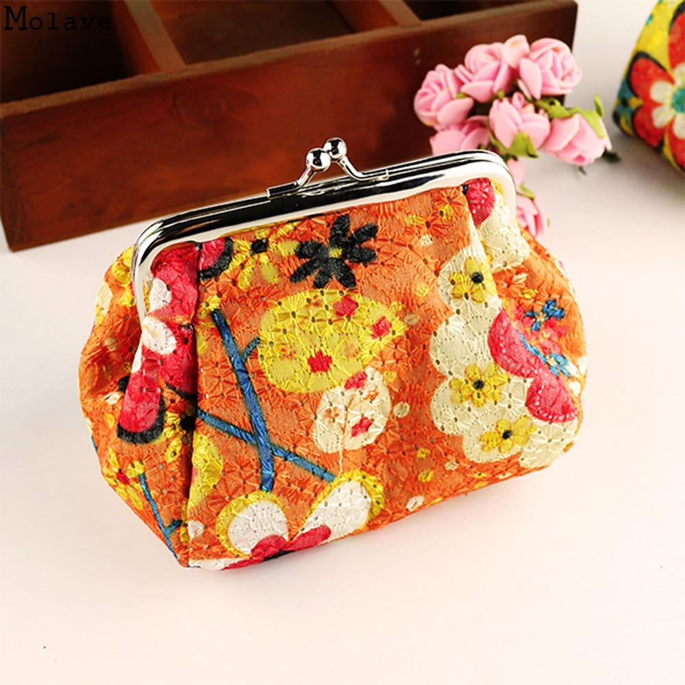 Naivety 2017 New Women Retro Small Wallet Hasp Coin Purse Lady Vintage Flower Clutch Bag Good For Gift Mar2