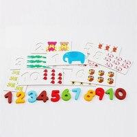 Chanycore Baby Leren Educatief Houten Speelgoed Digitale Puzzel Kaart Doos Dier Rekenkundige Bijpassende Kids Geschenken 4029