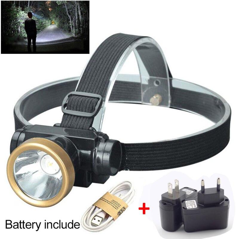 High Power LED Headlamp Headlight Head Torch Light Flashlight Lanterna USB Rechargeable Battery Outdoor Fishing Camping Hunting