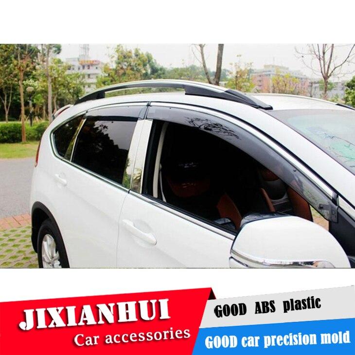 For Honda CRV Window Visor For Honda c-rv 2012-2017 Vent Shades Sun Rain  Deflector Guard 4PCS/SET Car Styling