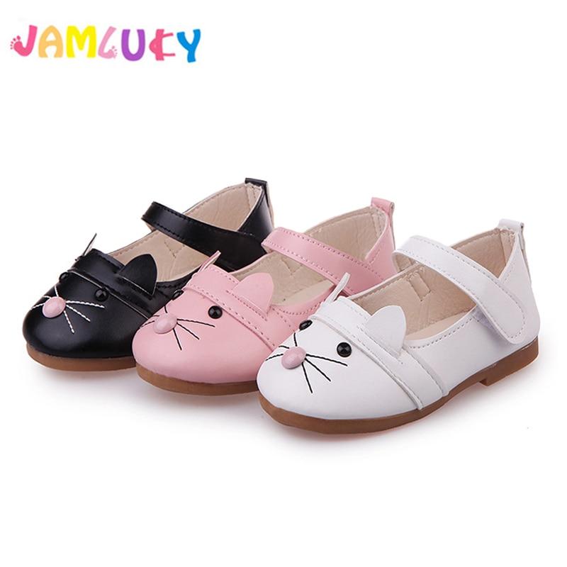 Дитяче взуття для дівчаток Весна милі тварини плоскі туфлі дівчата Принцеса дихаюче м'яке нижнє взуття для дівчаток Літні сандалі