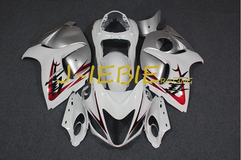 White silver Injection Fairing Body Work Frame Kit for SUZUKI GSXR 1300 GSXR1300 Hayabusa 2008 2009 2010 2011 2012 2013 2014