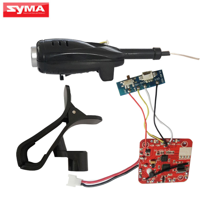 SYMA X5S PCB Spare Parts For X5SW X5SC RC Helicopter Circuit board + FPV WiFi Camera + Phone Holder Quadcopter Accessories syma x5s x5sc x5sc 1 x5sw x5sw 1 main body shell spare parts rc quadcopter drone motor and battery cover helicopter accessories