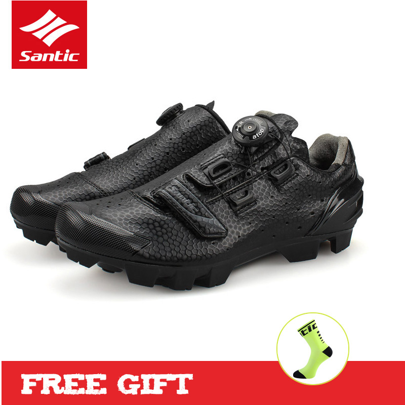 Santic MTB Cycling Shoes Men Athletics Zapatillas Sapatilha Ciclismo Mountain Bike Bicycle Shoes Self-locking Shoes for Riding цена