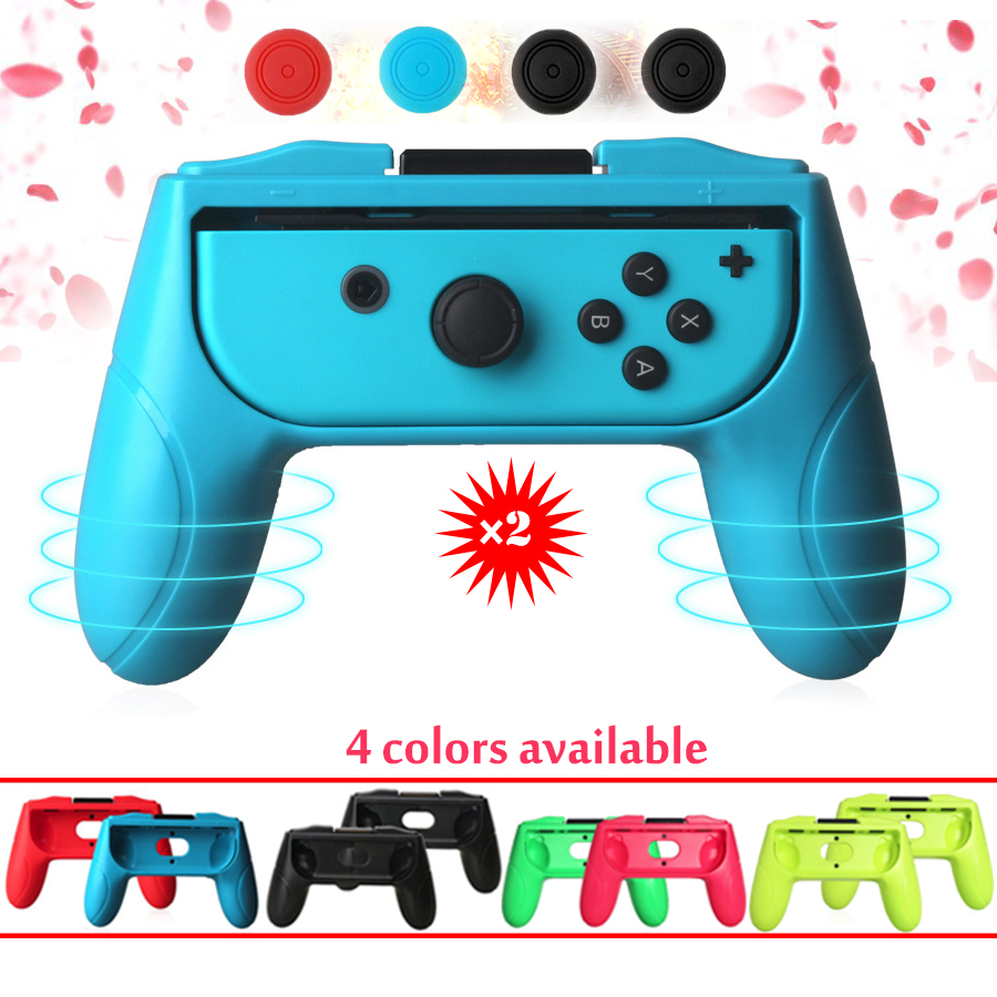 2pcs/set ABS Joystick Grip Handle Joypad Stand Holder for Nintend Switch Left Right Joy-Con Joycon NS Controller for nintend switch chargeable left right comfort hand grip holder for nintendo switch joy con ns handle grip controller charger