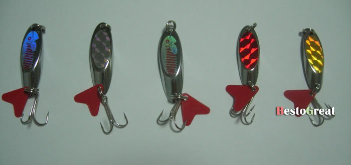 5PCS Fishling twinkling Spoon Lure baits Hook 8g~11.5g-in Fishing Lures from Sports & Entertainment on Aliexpress.com | Alibaba Group