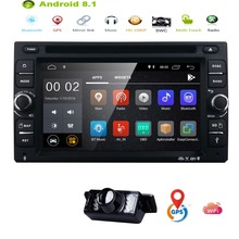Android 8.1 Double 2Din Universal Car Radio Stereo DVD Player GPS Navi OBD2 BT 4G WiFi 2GB Touch Screen TPMS