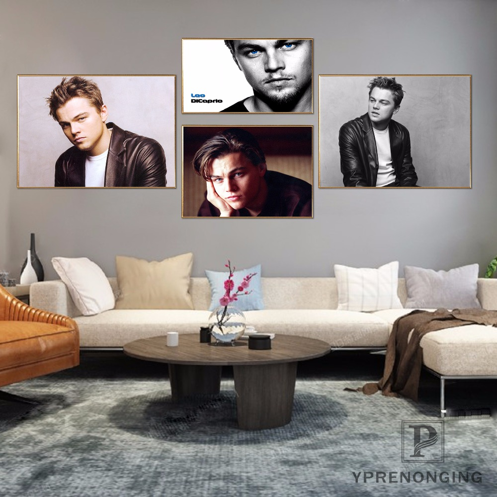 Custom <font><b>Leonardo</b></font> <font><b>Dicaprio</b></font> Poster Art Home Decor Canvas Printing Silk Fabric Print Wall Poster No Frame 180317@18 image
