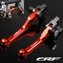 CNC Motorcycle Brake Clutch Levers For Honda CRF250R CRF450R CRF450RX CRF250X CRF450X CRF150F CRF230F CRF150L CRF 250 L/M/RALLY недорого