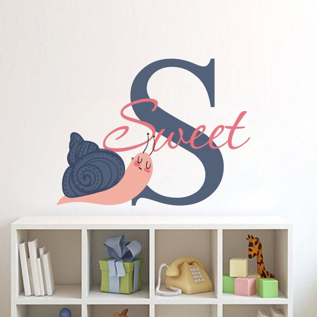 nordic style sweet color wall sticker for kids rooms lover bedroom